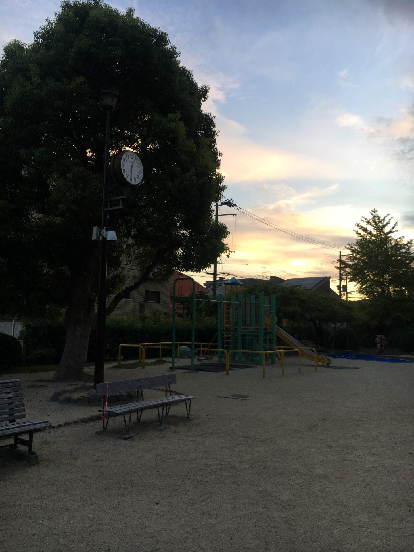 18時頃の公園